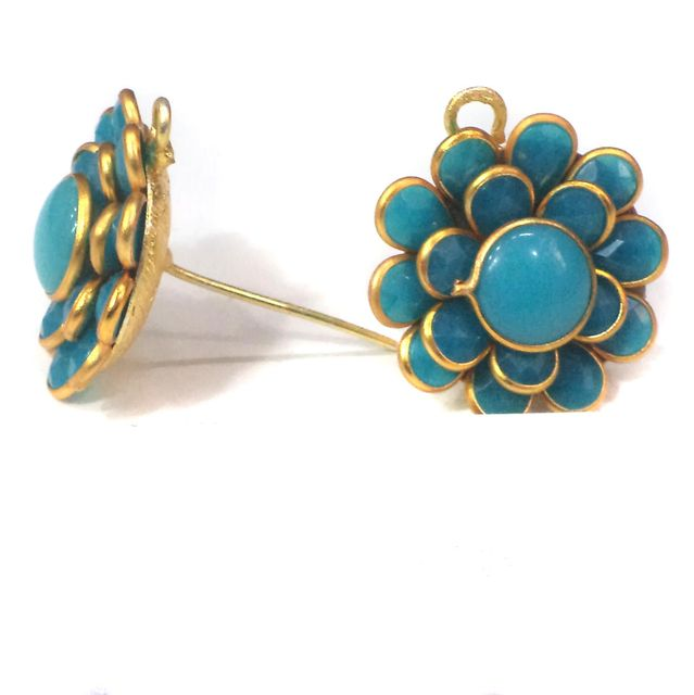 Double Layer PACCHI EARRING TURQUOISE 20X20 mm