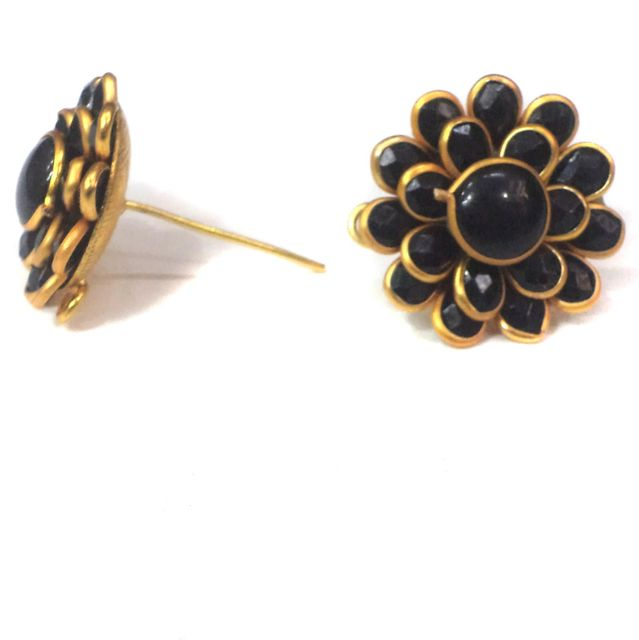 Double Layer PACCHI EARRING BLACK 20X20 mm