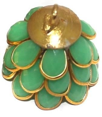 Pacchi Jhumka PARROT GREEN 14x19 mm