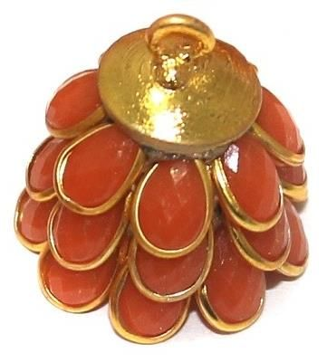 5 Pairs Pacchi Jhumka ORANGE 14x19 mm