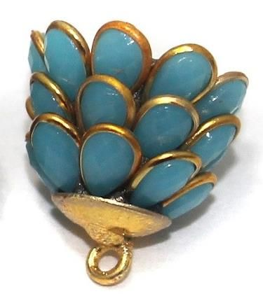 Pacchi Jhumka TURQUOISE Blue 14x19 mm