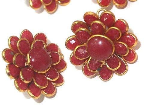 Double Layer PACCHI EARRINg Red 20X20 mm