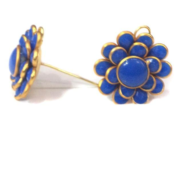Double Layer PACCHI EARRING bLUE 20X20 mm