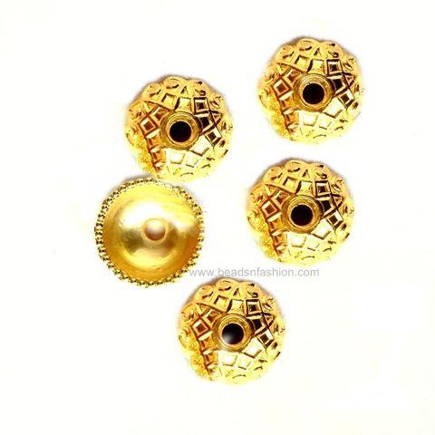 Jewellery Making Acrylic Bead Caps Golden Bead Caps