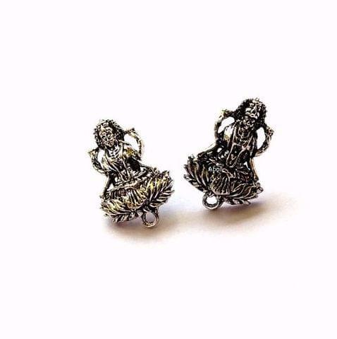 5 Pairs Oxidized Goddess Stud Earring Findings Earrings Studs