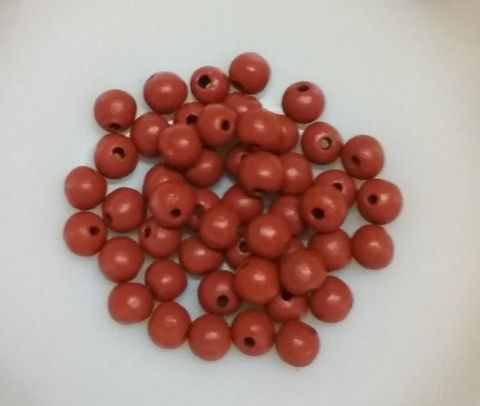 100 pcs Brown Terracotta 7mm round beads