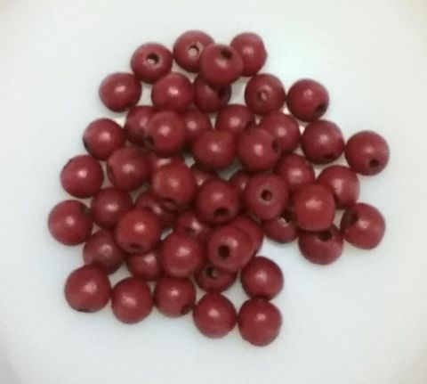 100 pcs Maroon Terracotta 7mm round beads