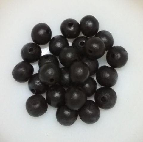 100 pcs Black Terracotta 10mm round beads