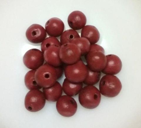 100 pcs Maroon Terracotta 10mm round beads