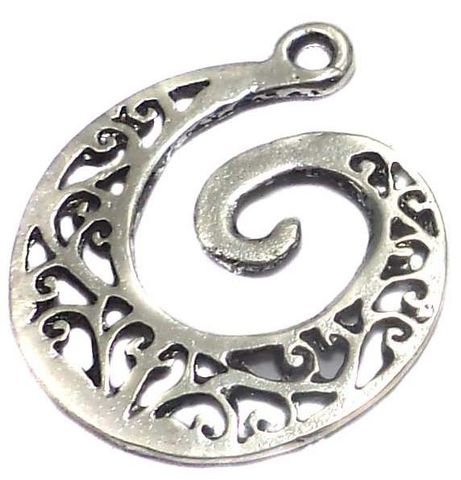 8 German Silver Earring Component 20x20mm
