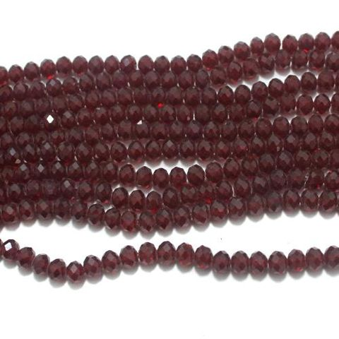 Faceted Crystal Beads Red 8mm 70+ Beads 1 Strings