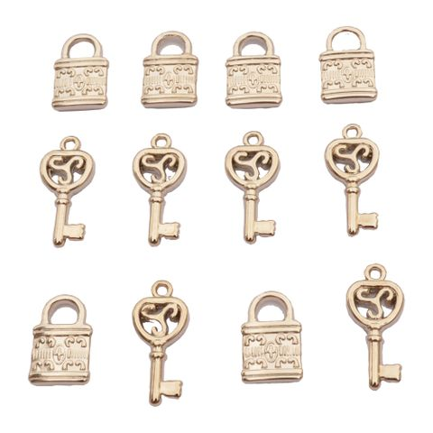 Cute Lock and Key  Acrylic Charms/ Beads_12Pcs