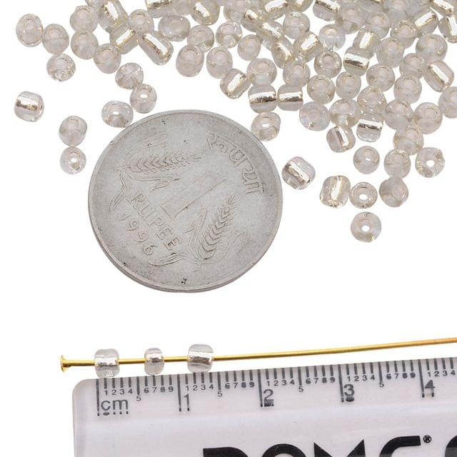 Buy 1 Get 1 Free Silver Glass Seed Beads_100Pcs in each pack