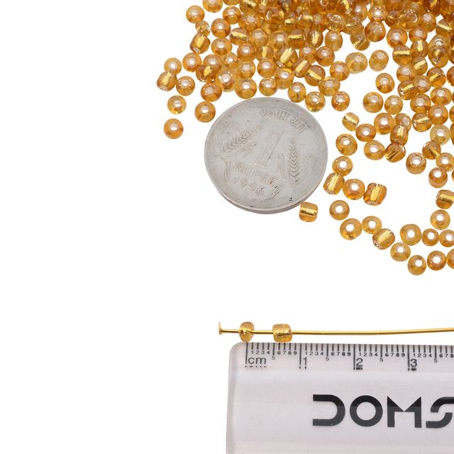 Buy 1 Get 1 Free Golden Glass Seed Beads_100Pcs in each pack