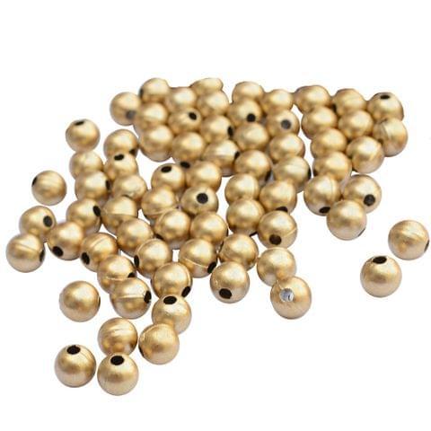 Circular Golden Sun Ball Beads_100Pcs