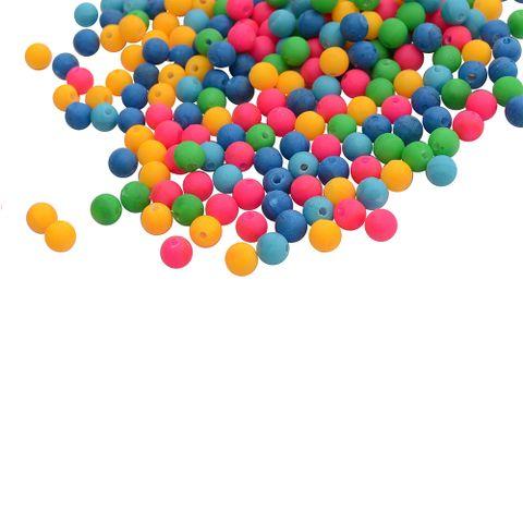 Multi-coloured Neon Acrylic Beads_100Pcs