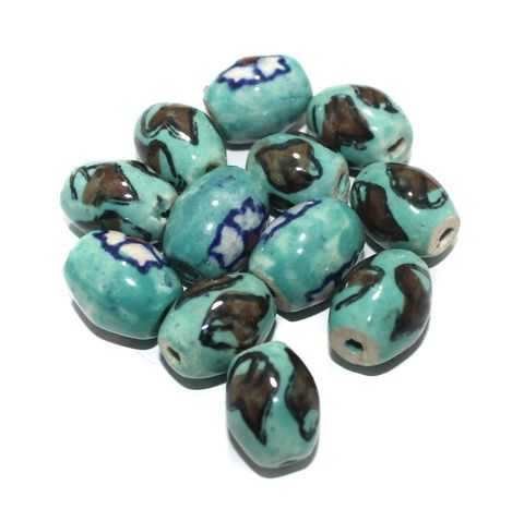 25 Pcs Ceramic Beads Assorted 20x17 mm