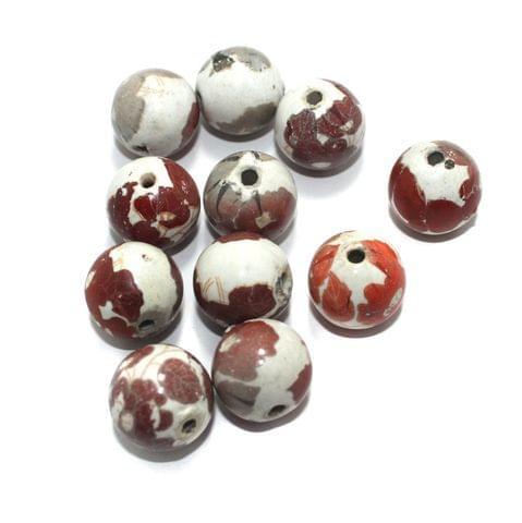 25 Pcs Ceramic Beads Assorted 21x21 mm