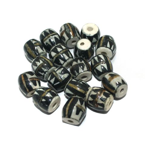 50 Pcs Ceramic Beads Assorted 13x13 mm