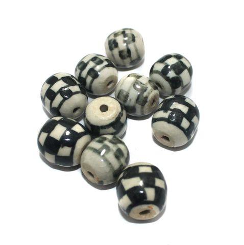 25 Pcs Ceramic Beads Assorted 20x18 mm