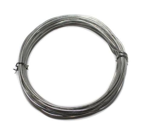 Jewellery Making Silver Plated Brass Craft Wire, 10 Mtrs, 20 Gauge Thick (0.90 mm)