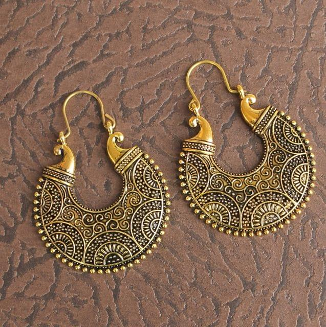 Antique Chandbali Stone Earrings