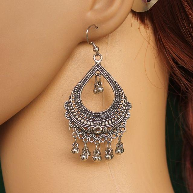 Antique Chandbali Stone Earrings