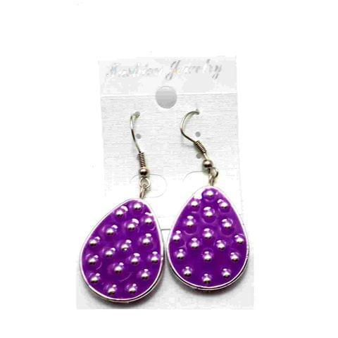 Fashion Earring For Girls Purple