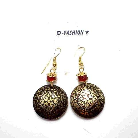 Fashion Acrylic Earring For Girls Gold