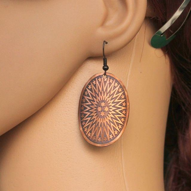 Fashion Metal Earring For Girls Copper