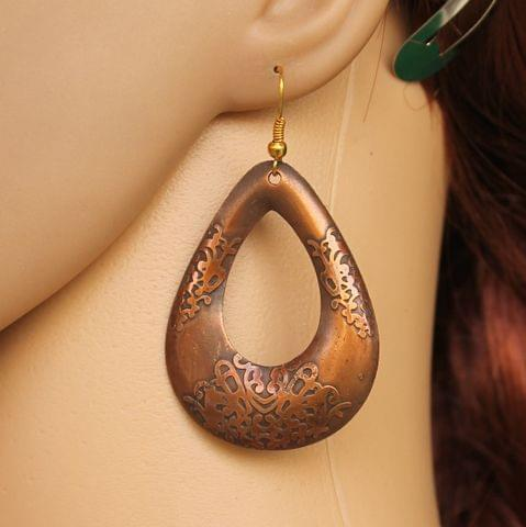Fashion Acrylic Earring For Girls Copper