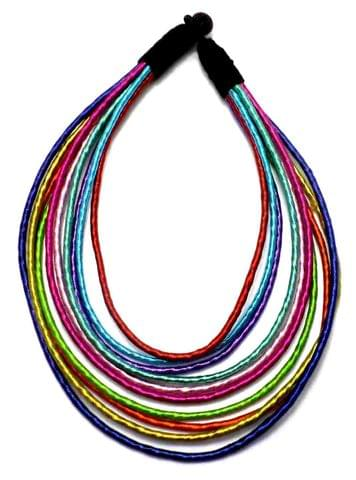 Silk Thread Necklace For Girls Multicolor