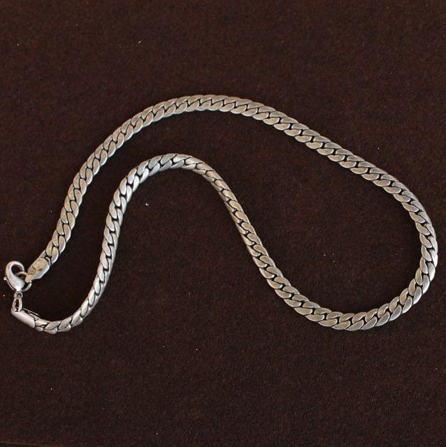 German Silver Solid Curb Chain