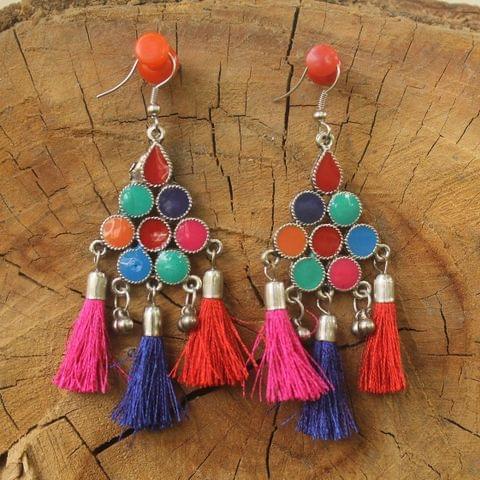 Meenakari Tassel Earring Multicolor