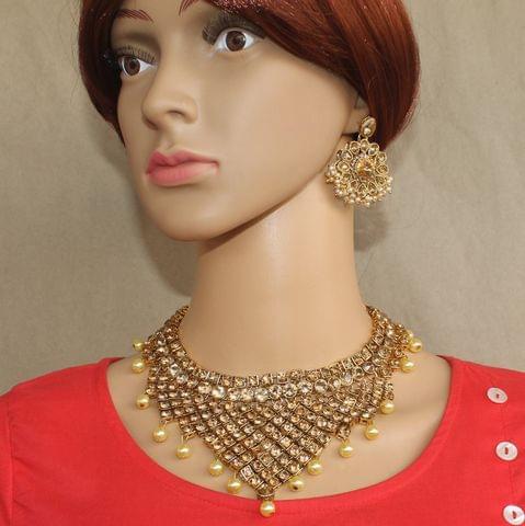 AD Kundan Necklace Set