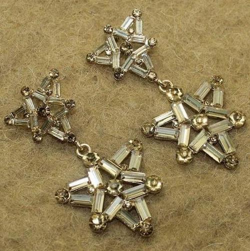 Crystal Stone Gold Plated Dangler Earring