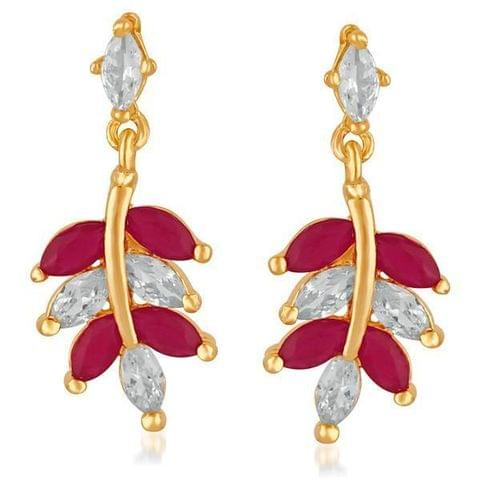 Gold Plated AD Stone Dangler Earrings