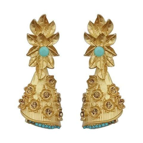 Pearl Drop Gold Plated Dangler Earrings