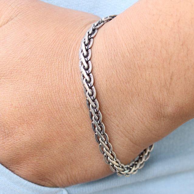 German Silver Stylish Bracelet