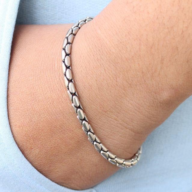 Snaky Silver Bracelet