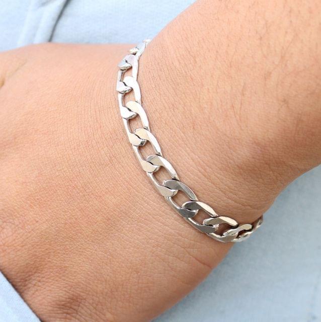 German Silver Link Bracelet