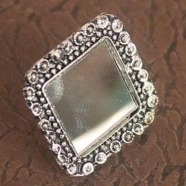 German Silver Mirror Finger Rings
