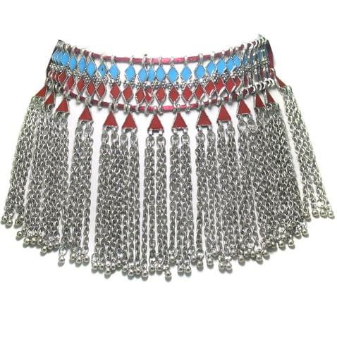 German Silver Multicolor Meenakari Necklace