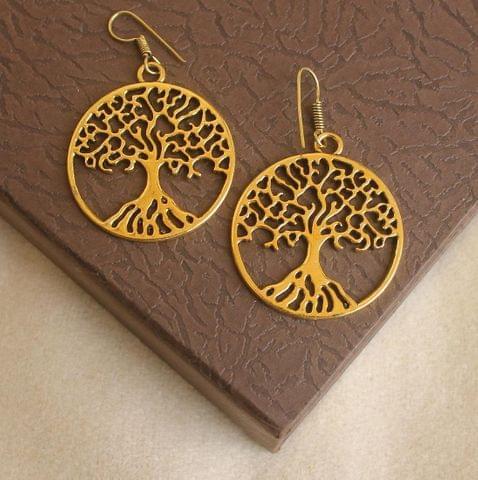 German Silver Tree Earring Gold