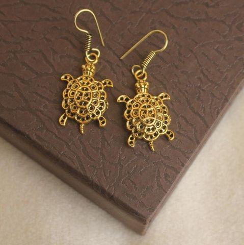German Silver Tortoise Earring Gold