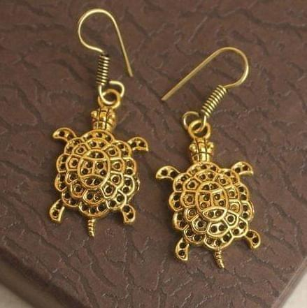 German Silver Tortoise Earring Gold
