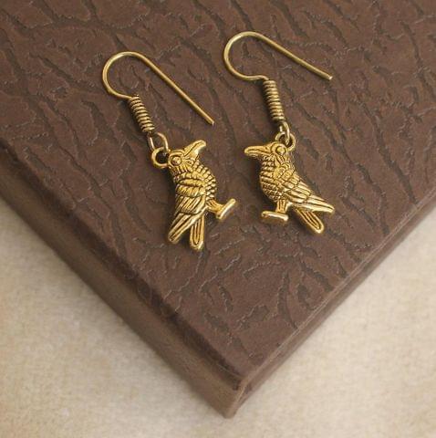 German Silver Bird Earring Gold