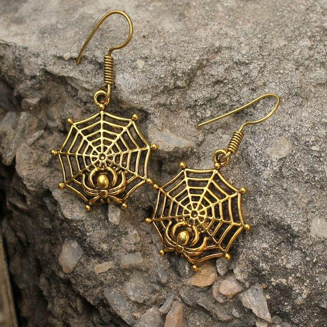 Spider Earring Gold