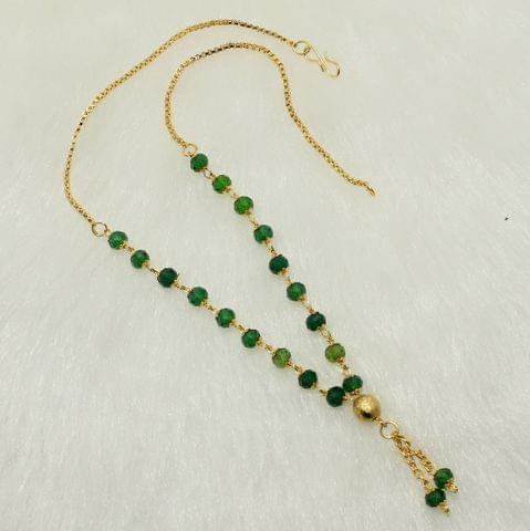 Crystal Faceted Beaded Mala Green