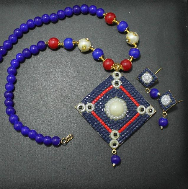 Designer Beaded Takkar Work Necklace